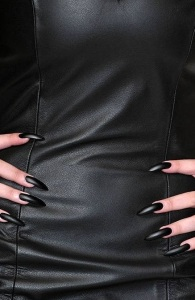ibiza escort leather dress