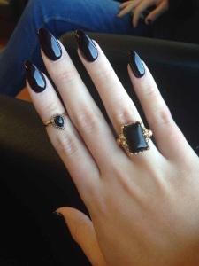 escort ibiza black nails black ring