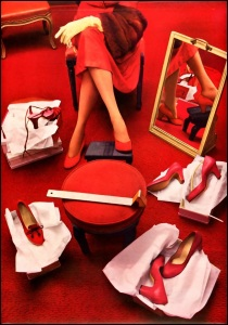 ibiza escort red room red shoes
