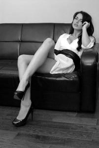 escort ibiza sexy long legs sofa