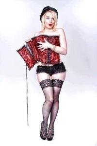 escort ibiza bowler hat corset cheeky
