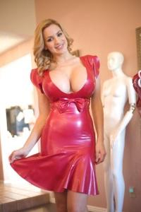 red latex dress ecorts marbella