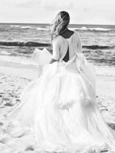 white flouncy dress beach escort marbella