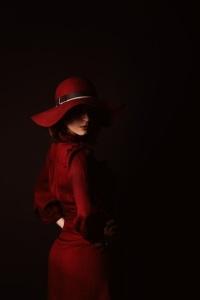 red hat red dress escort marbella
