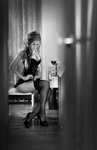 classic marbella escort corset stockings