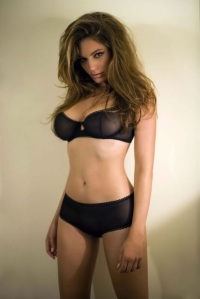 ibiza escort black sheer lingerie