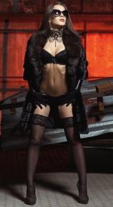 marbella escorts in lingerie and fur coat